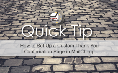 Quick Tip – How to Set Up a Custom Thank You Page in MailChimp