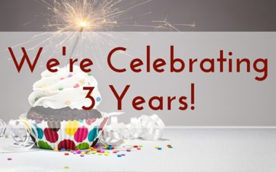 We're Celebrating 3 Years!