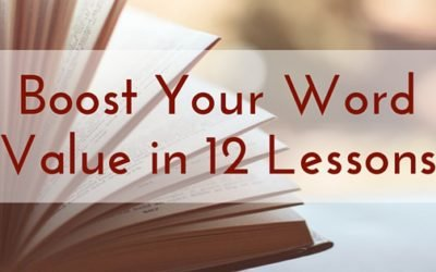 Boost Your Word Value in 12 Lessons